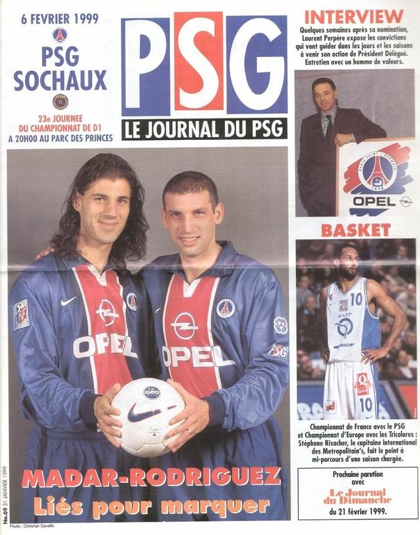 1999-02-06  PSG-Sochaux (23ème D1, Le Journal du PSG N°69)