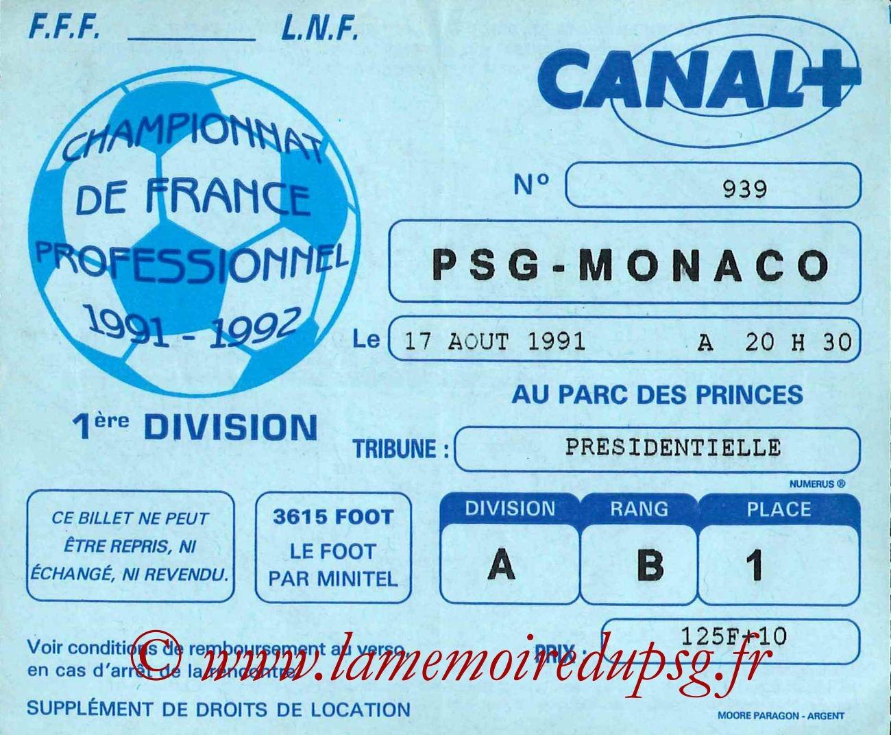 1991-08-17  PSG-Monaco (6ème D1, bis)