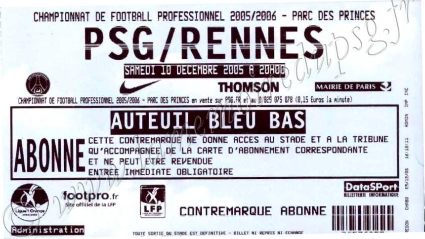 2005-12-10  PSG-Rennes (18ème L1)