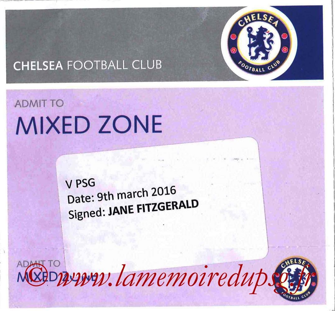 2016-03-09  Chelsea-PSG (8ème Retour C1, Presse)
