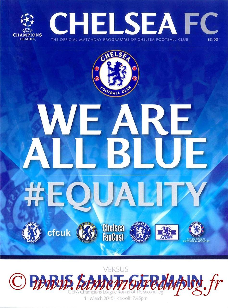 2015-03-11  Chelsea-PSG (8ème retour C1, Programme officiel)