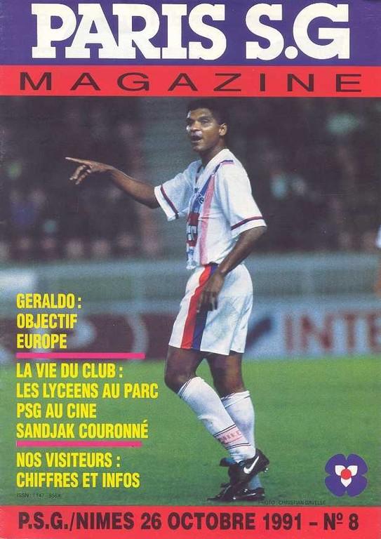 1991-10-26  PSG-Nimes (15ème D1, Paris SG Magazine N°8)