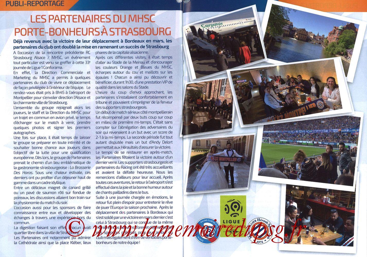2019-04-30  Montpellier-PSG (34ème L1, L'Echo de la Mosson N°17) - Pages 26 et 27