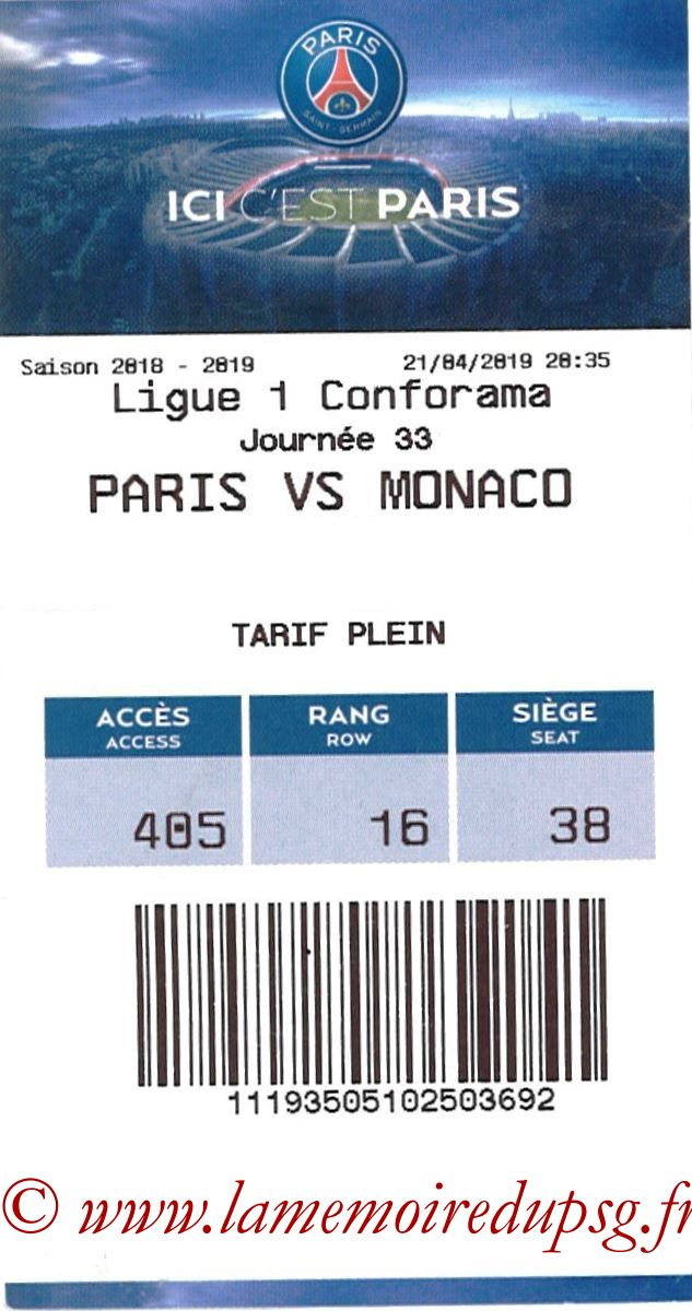 2019-04-21  PSG-Monaco (33ème L1, E-ticket)
