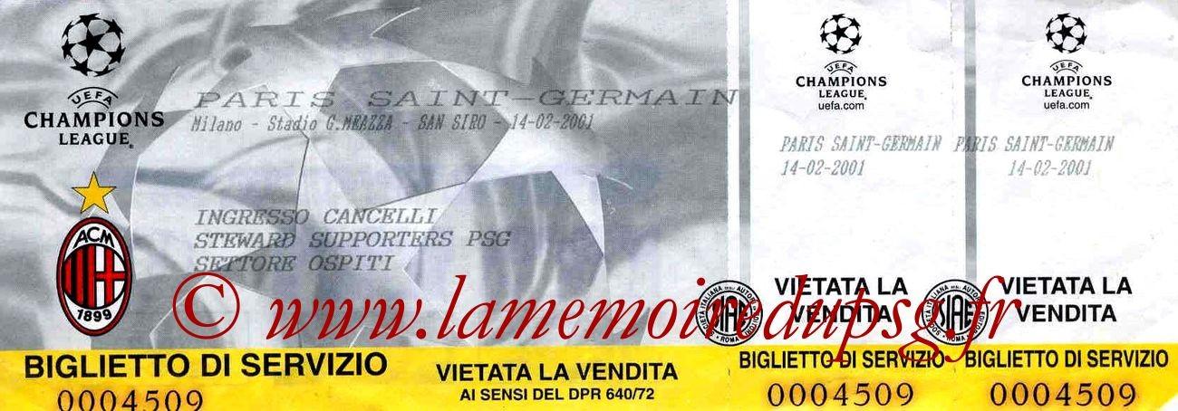 2001-02-14  Milan AC-PG (2ème Phase C1, 3ème Journée)