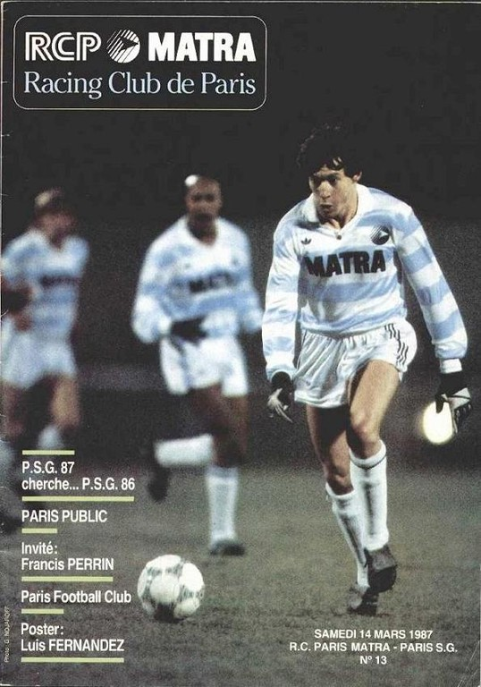 1987-03-14  Matra Racing-PSG (27ème D1, Programme officiel N°13)