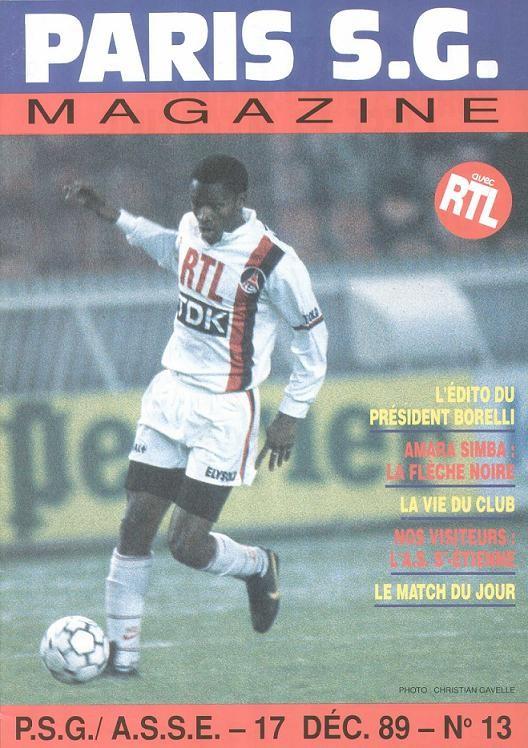 1989-12-17  PSG-Saint Etienne (23ème D1, Paris SG Magazine N°13)