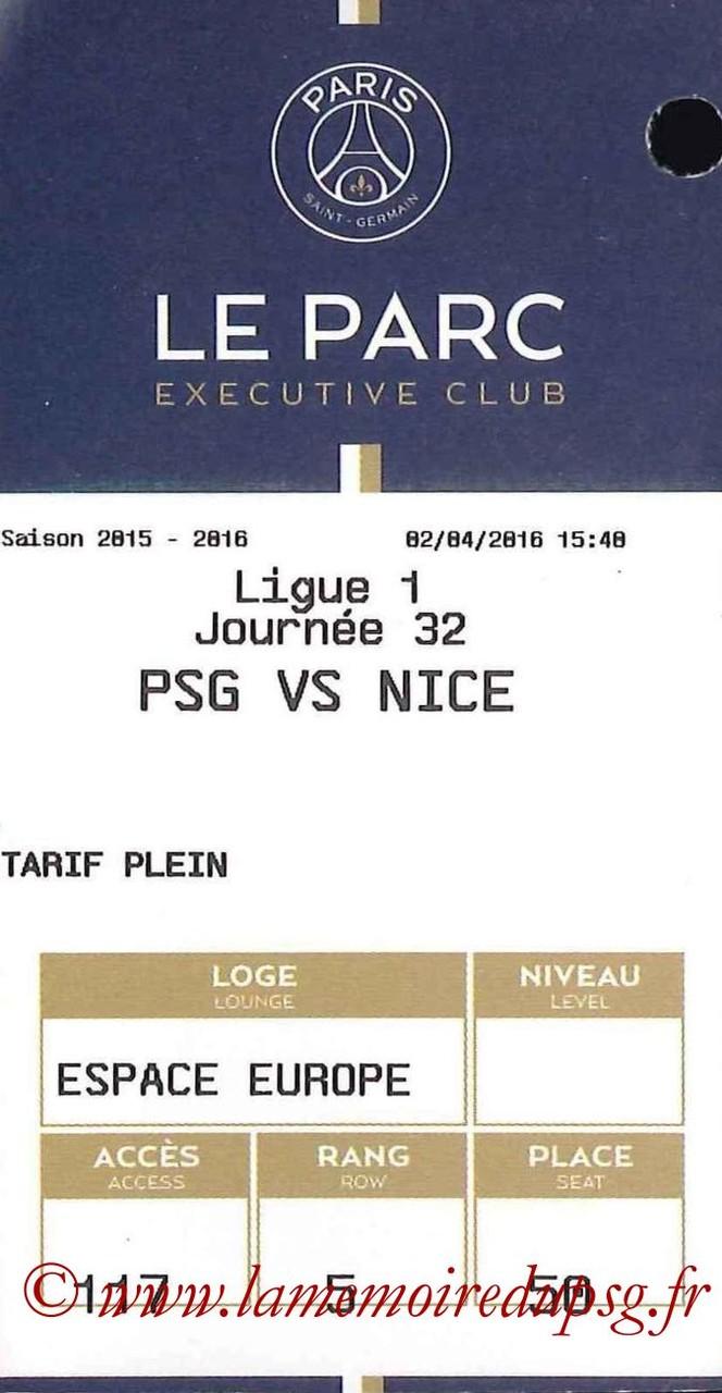 2016-04-02  PSG-Nice (32ème L1, E-ticket Executive Club)
