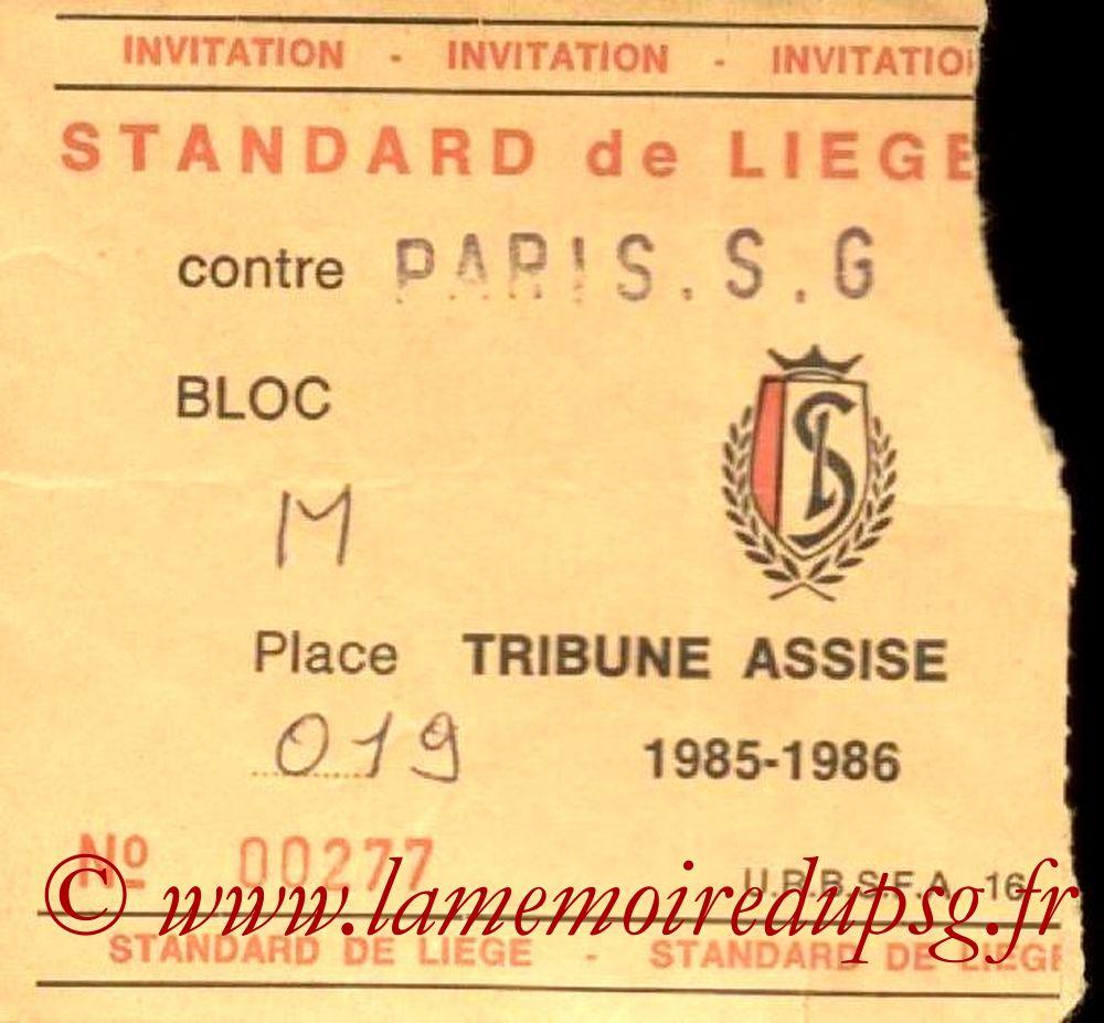 1986-02-25  Standard Liege-PSG (Amical à Liège)