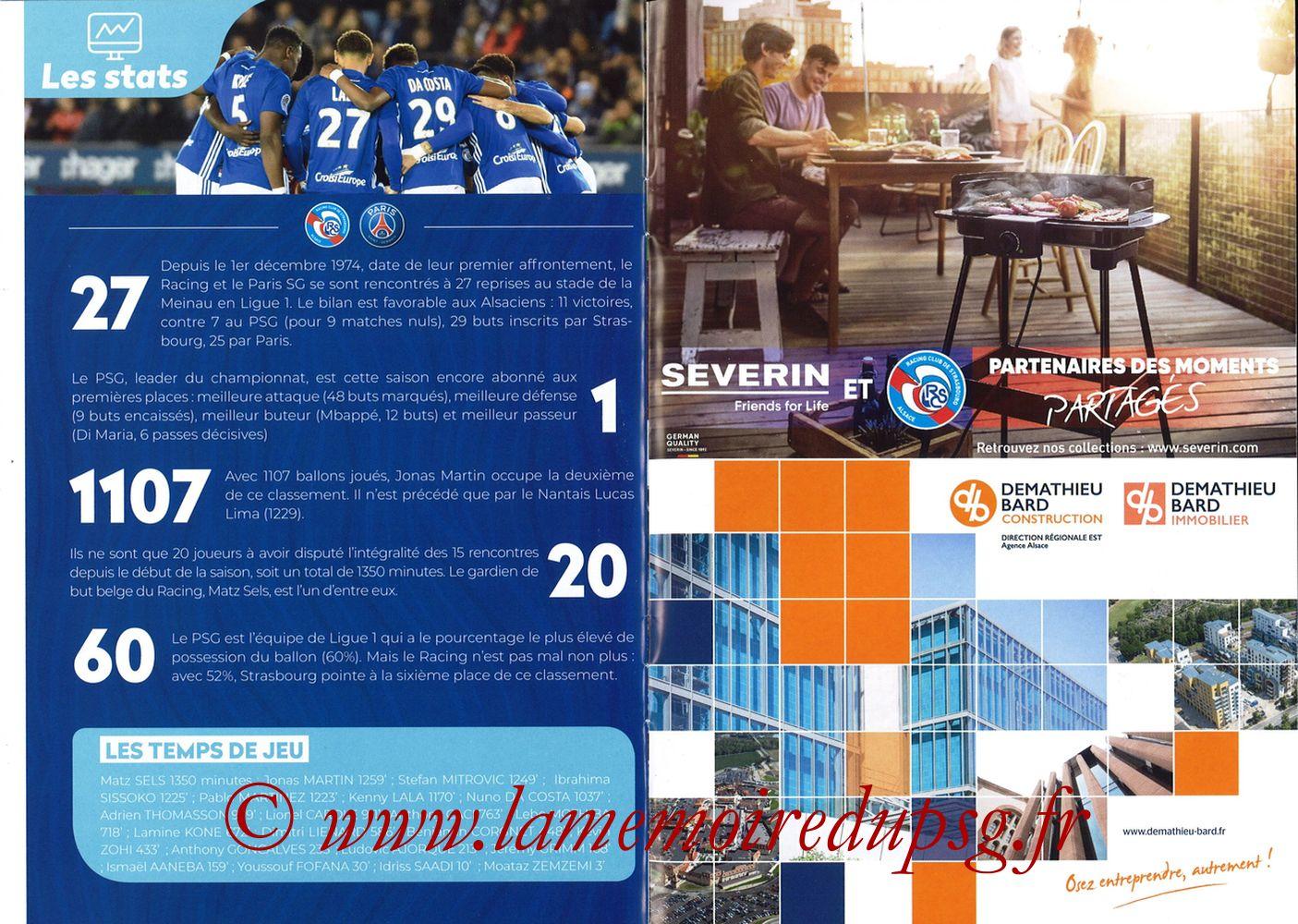 2018-12-05  Strasbourg-PSG (16ème L1, Passion Racing N°7) - Pages 14 et 15