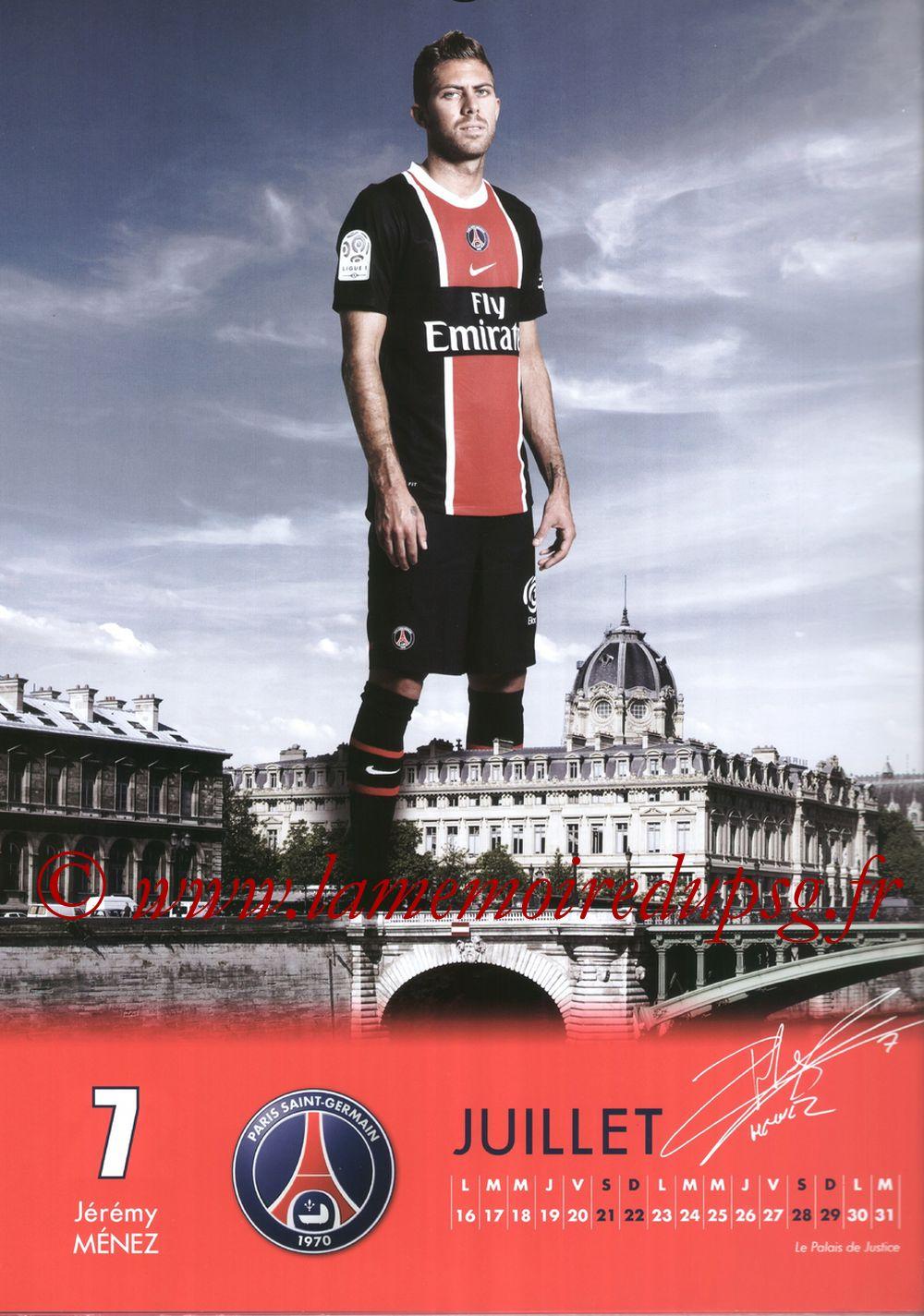 Calendrier PSG 2012 - Page 14 - Jérémy MENEZ