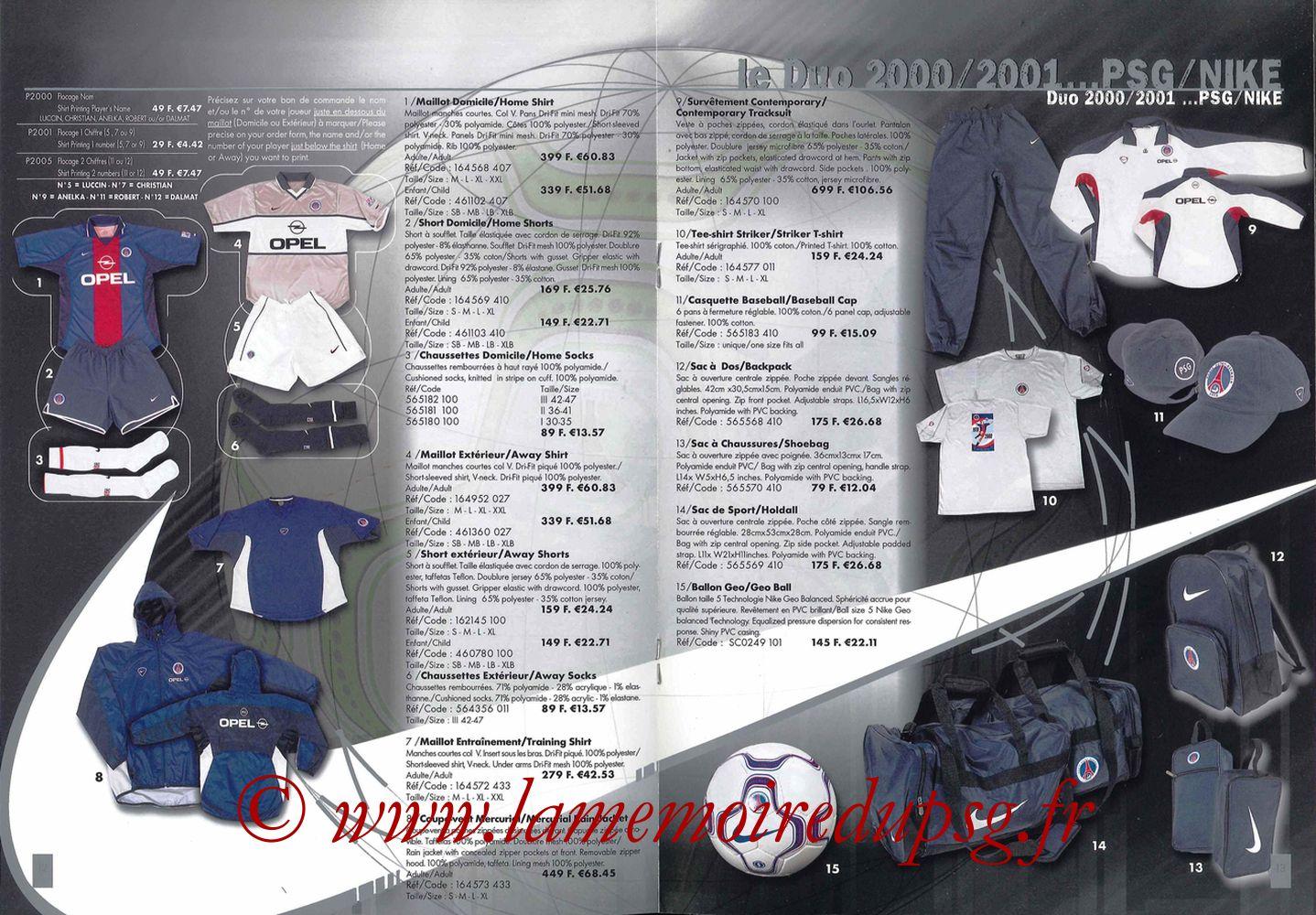 Catalogue PSG - 2000-01 - Pages 12 et 13