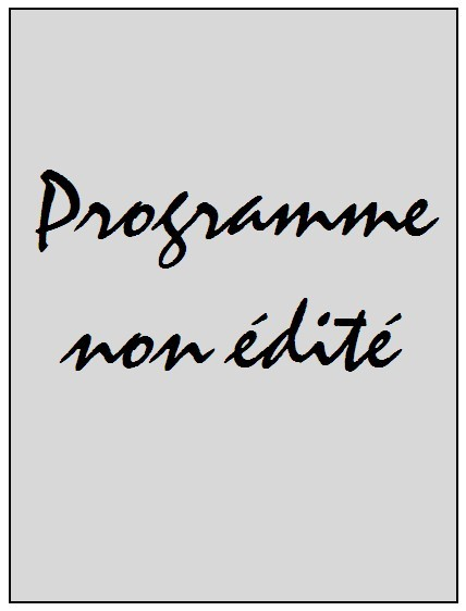 2000-05-21  Jubilé Laurent Fournier (Amical au Parc des Princes, Programme non édité)