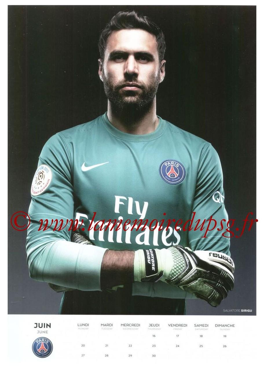 Calendrier PSG 2016 - Page 12 - Salvatore SIRIGU