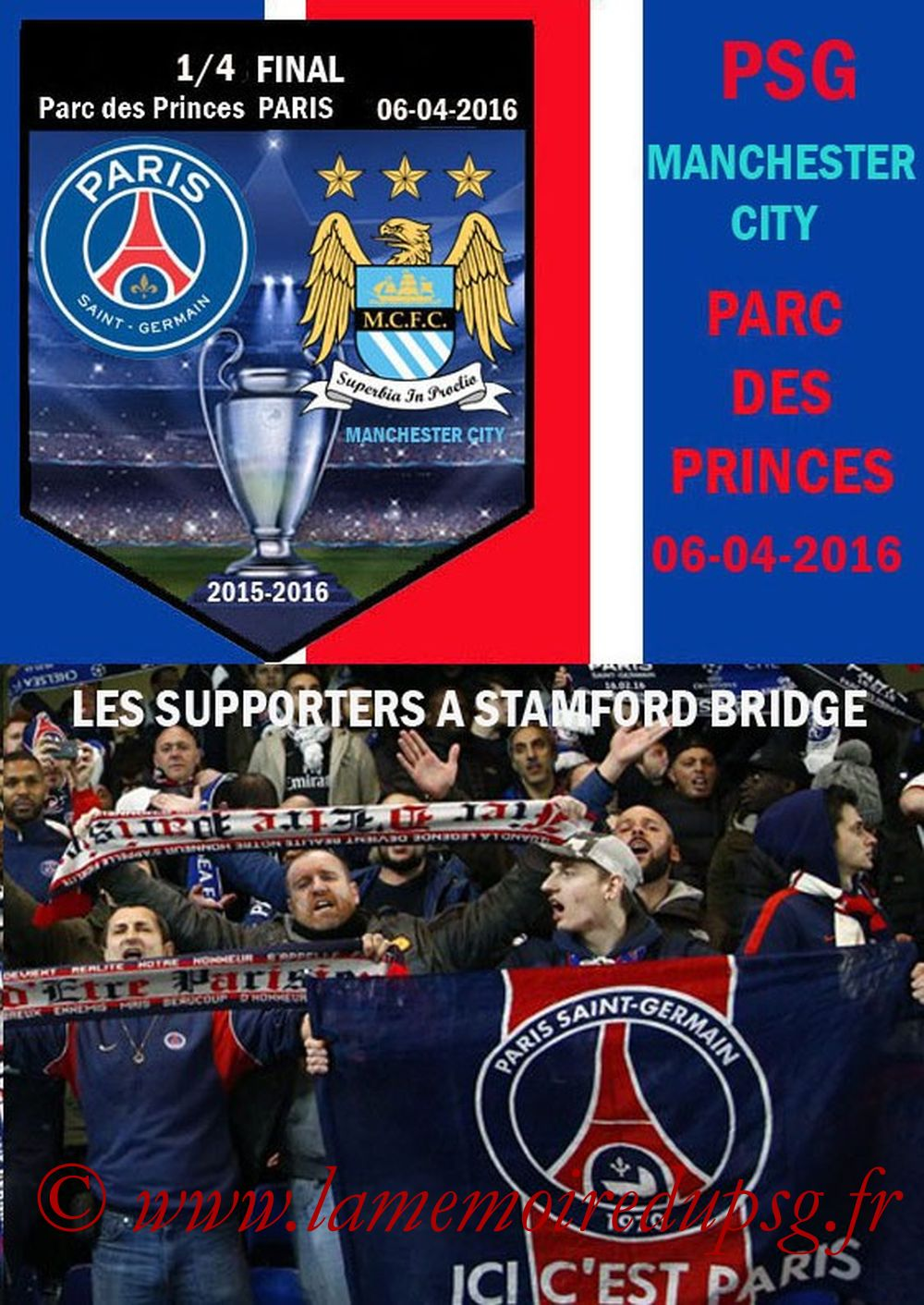 2016-04-06  PSG-Manchester City (Quart C1 Aller, Programme pirate)