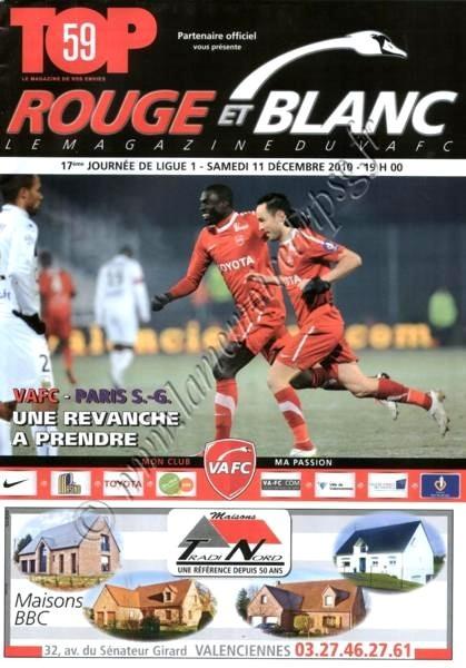 2010-12-11  Valenciennes-PSG (17ème L1, Rouge et blanc)