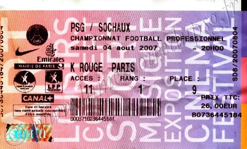 2007-08-04  PSG-Sochaux (1ère L1, Billetel)