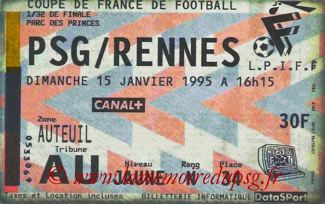 1995-01-15  PSG-Rennes (32ème Finale CF)