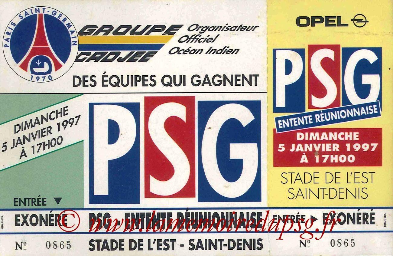 1997-01-05  PSG-Entente Réunionnaise (Amicale à Saint-Denis de la Réunion)
