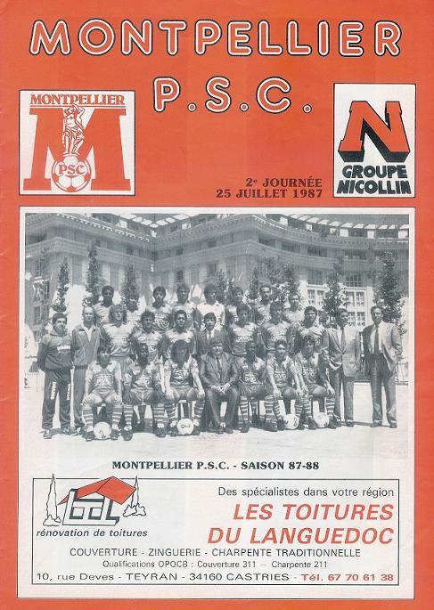 1987-07-25  Montpellier-PSG (2ème D1, Programme officiel)