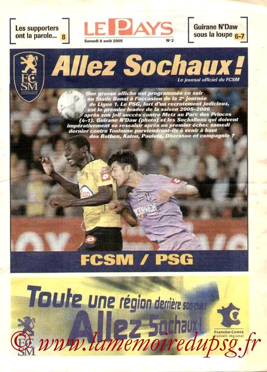 2005-08-06  Sochaux-PSG (2ème L1, Allez Sochaux N°2)