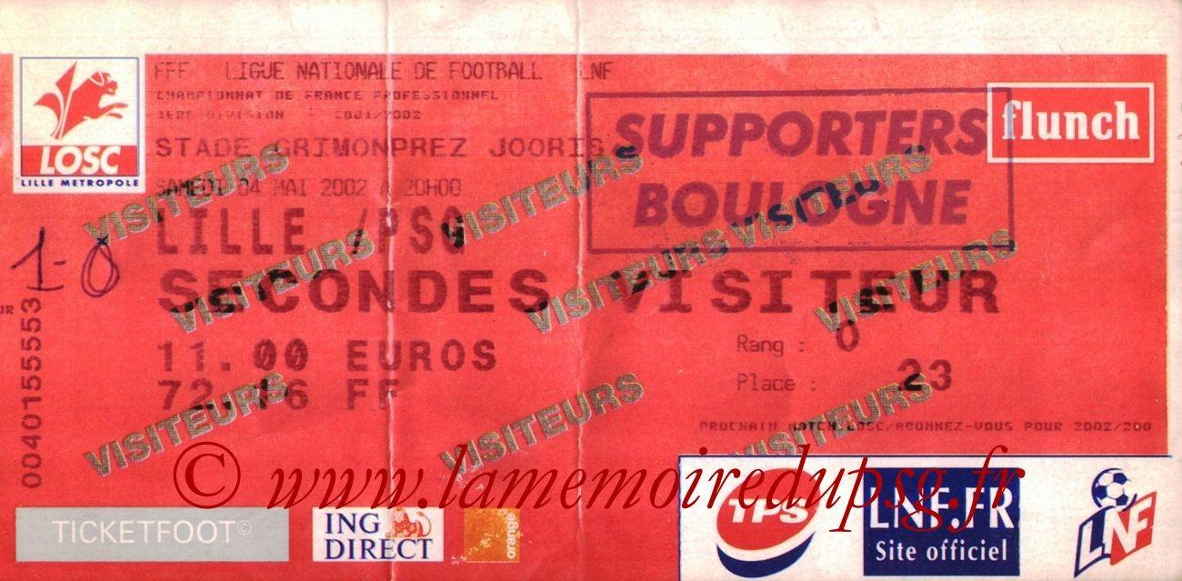 2002-05-05  Lille-PSG (34ème D1, bis)