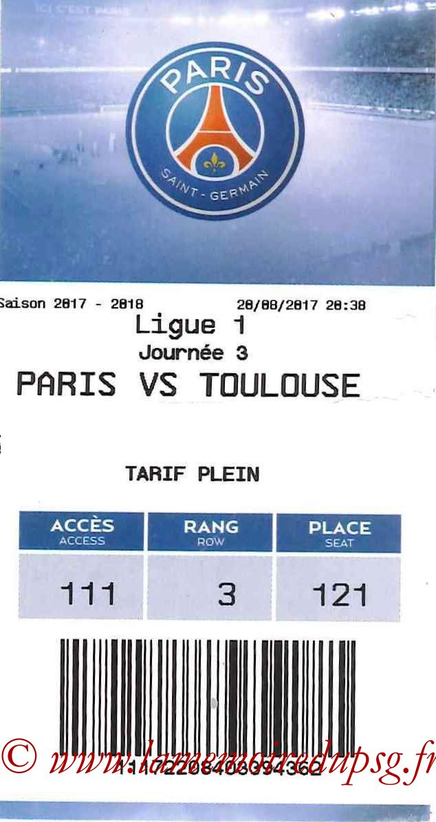 2017-08-20  PSG-Toulouse (3ème L1, E-ticket)