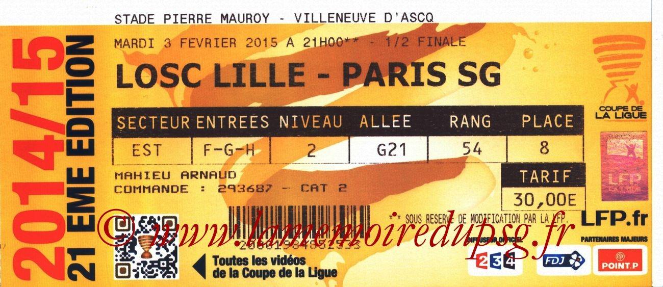 2015-02-03  Lille-PSG (Demi-Finale CL)