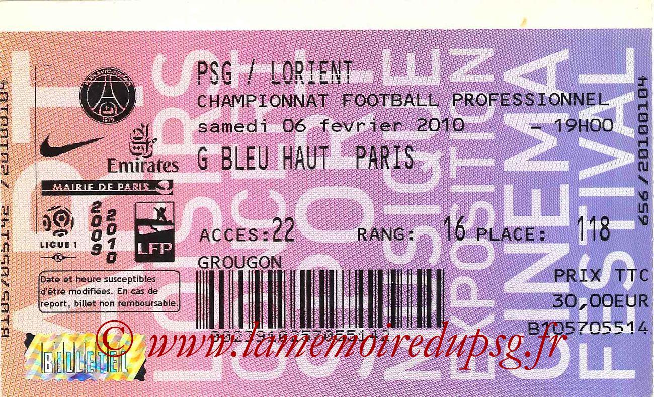 2010-02-06  PSG-Lorient (23ème L1, Billetel)