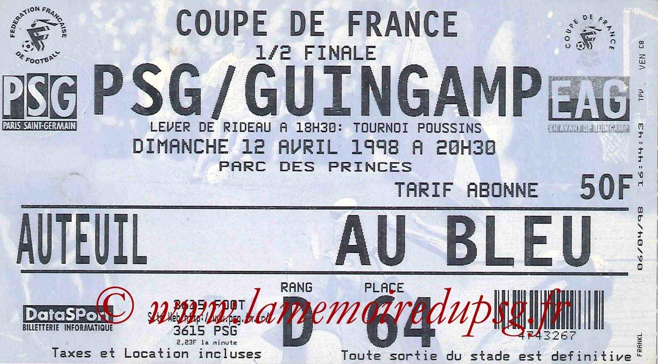 1998-04-12  PSG-Guingamp (Demi-Finale CF)