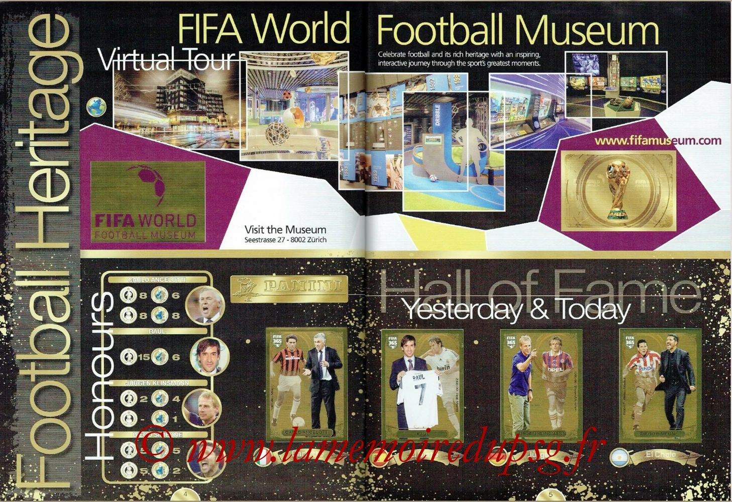 2016-17 - Panini FIFA 365 Stickers - Pages 04 ert 05 - Football Heritage