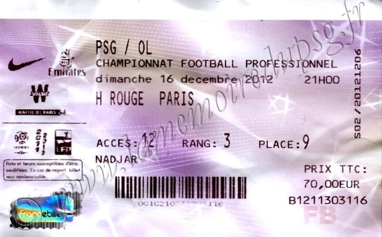 2012-12-16  PSG-Lyon (18ème L1, Billetel)