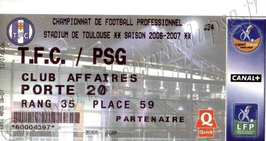 2007-04-28  Toulouse-PSG (34ème L1)