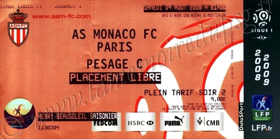 2008-08-09  Monaco-PSG (1ère L1, bis)