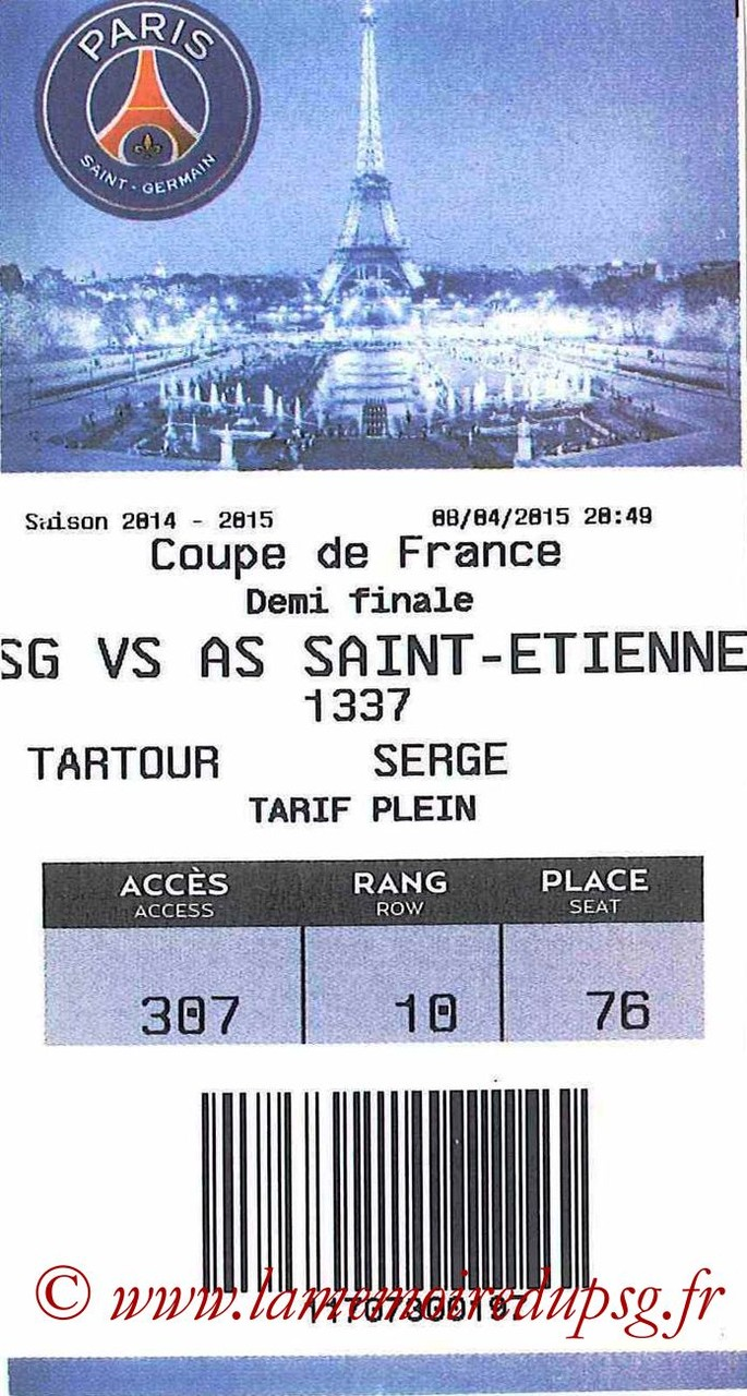 2015-04-08  PSG-Saint Etienne (Demi CF, E-ticket)bis
