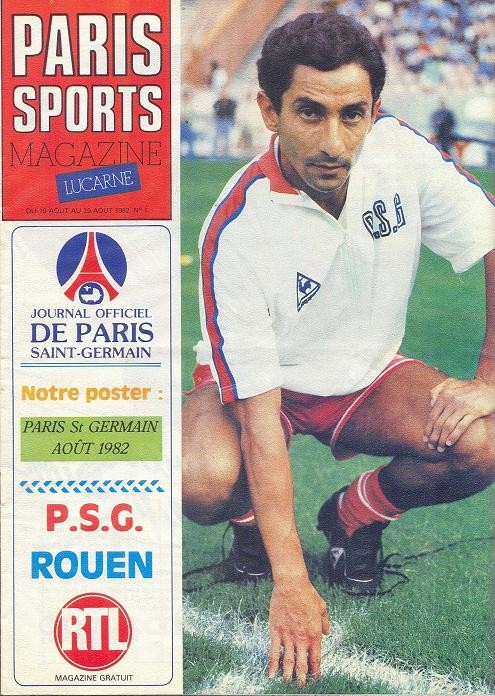 1982-08-10  PSG-Rouen (1ère D1, Paris Sports Magazine N°1)