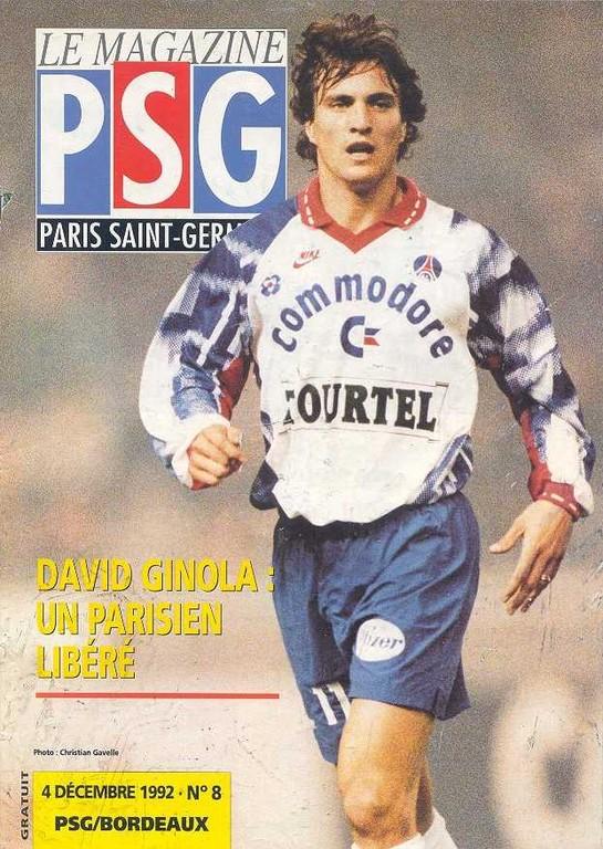 1992-12-04  PSG-Bordeaux (17ème D1, Le Magazine PSG N°8)
