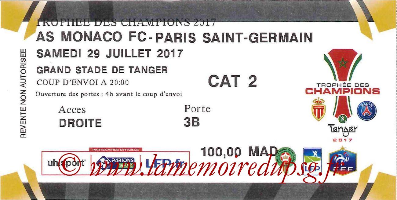 2017-07-29  Monaco-PSG (Trophée des Champions à Tanger)