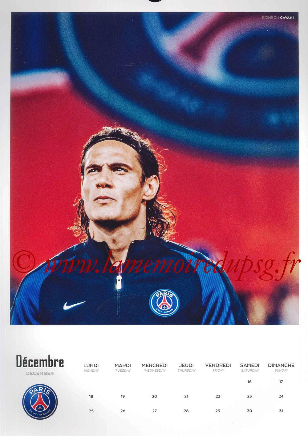 Calendrier PSG 2017 - Page 24 - Edinson CAVANI