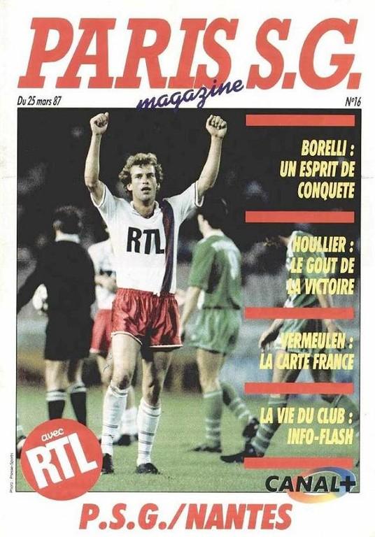 1987-03-25  PSG-Nantes (28ème D1, Paris SG Magazine N°16)