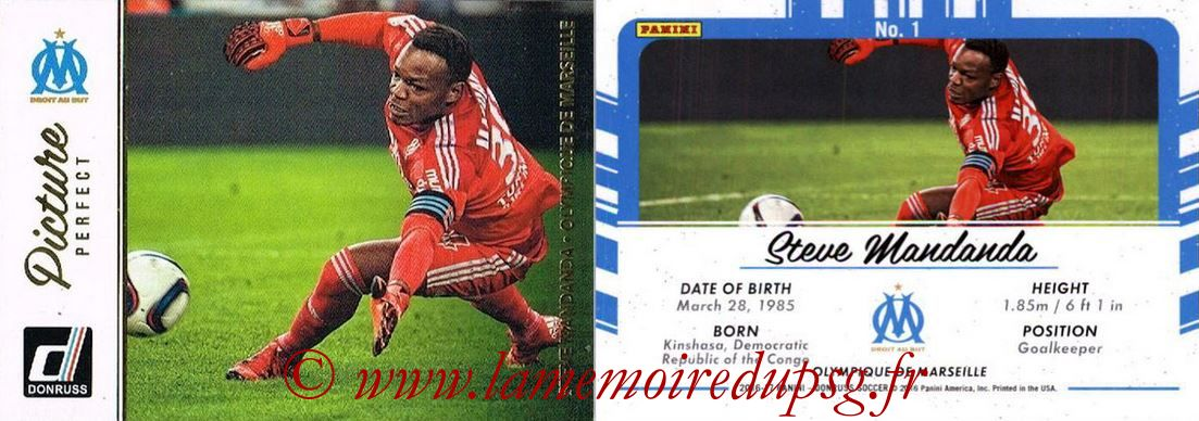 2016 - Panini Donruss Cards - N° PP01 - Steve MANDANDA (Olympique de Marseille) (Picture Perfect)