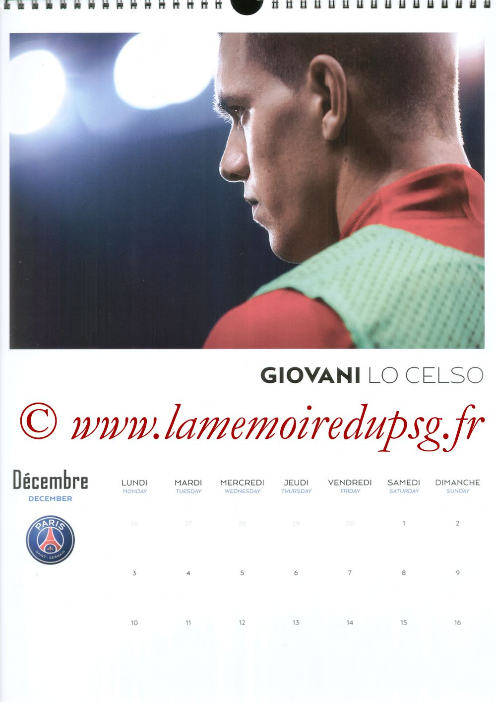 Calendrier PSG 2018 - Page 23 - Giovani LO CELSO