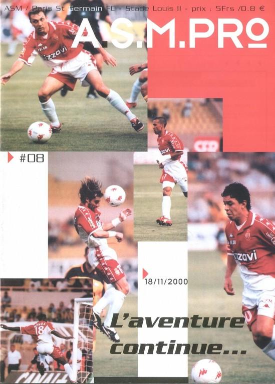 2000-11-18  Monaco-PSG (16ème D1, ASM Pro N°8)