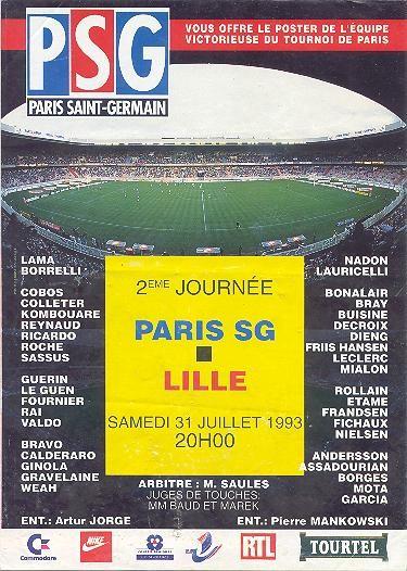 1993-07-31  PSG-Lille (2ème D1, PSG Magazine N° HS)