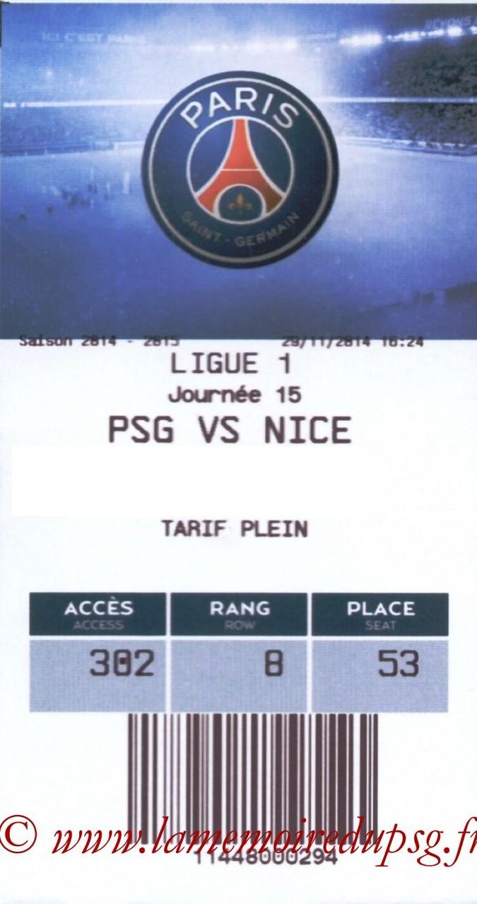 2014-11-29  PSG-Nice (15ème L1, E-ticket)