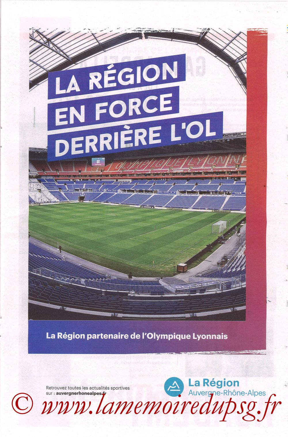 2019-02-03  Lyon-PSG (23ème L1, La Tribune OL N°270) - Page 17