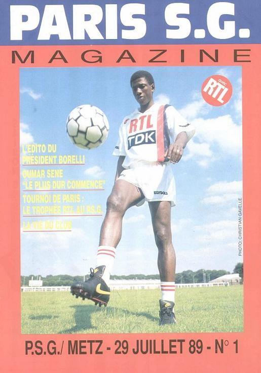1989-07-29  PSG-Metz (2ème D1, Paris SG Magazine N°1)