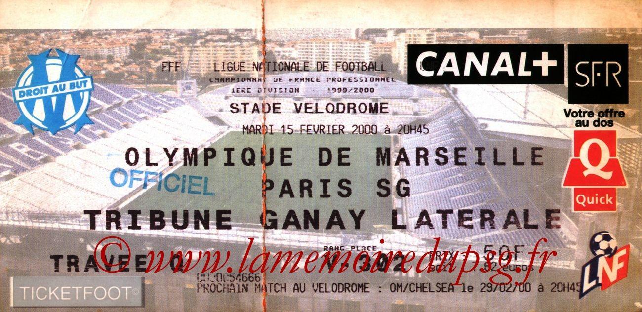 2000-02-15  Marseille-PSG (26ème D1)2
