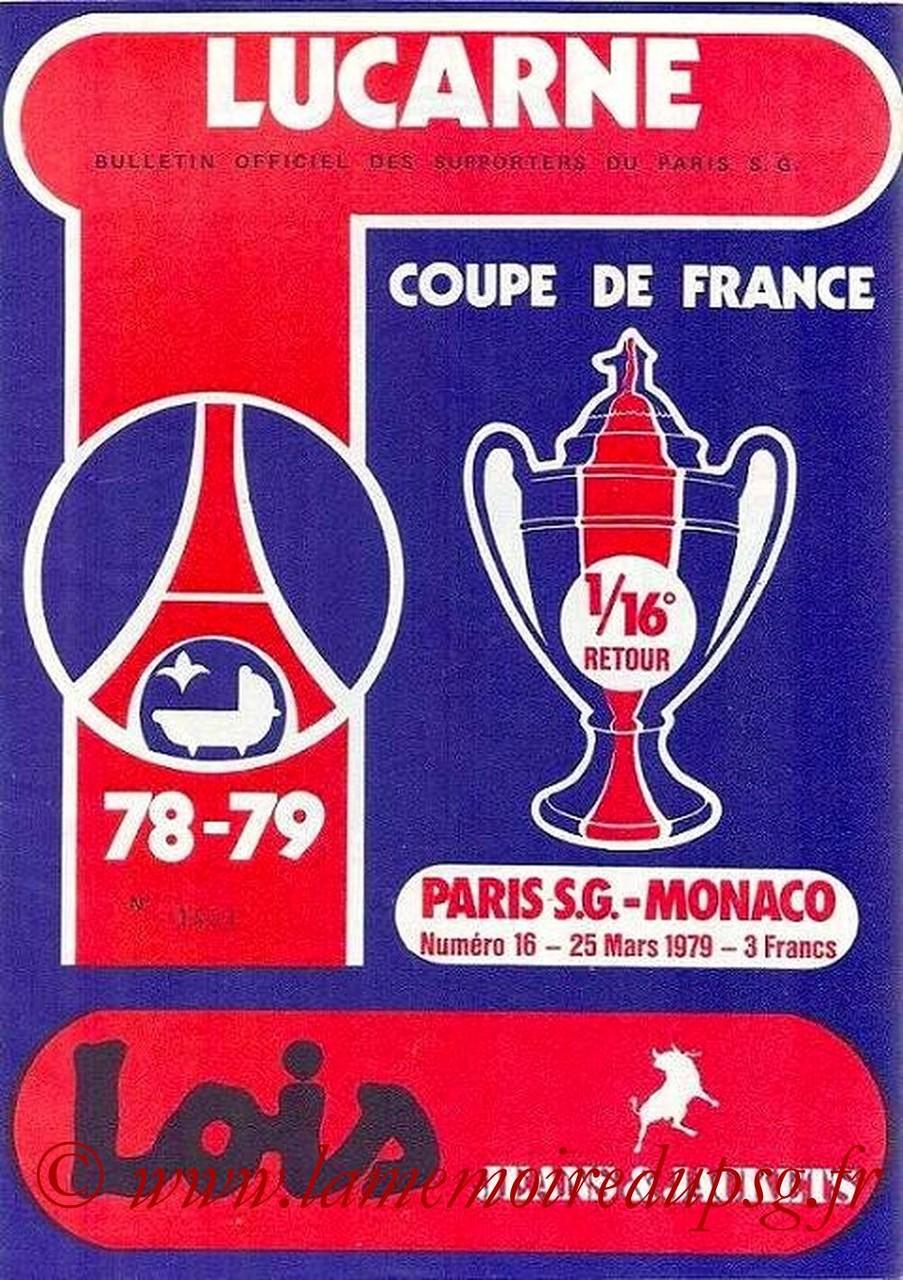 1979-03-25  PSG-Monaco (16ème CF Retour, Lucarne N°16)