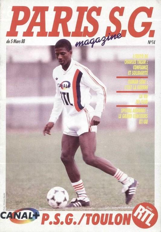 1988-03-05  PSG-Toulon (27ème D1, Paris SG Magazine N°14)